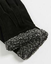Ted Baker Nubuck Fleece Lined Gloves - Black