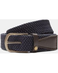 Ted Baker - Elastic Woven Leather Belt - Lyst
