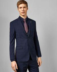 Ted Baker Debonair Check Wool Suit Jacket - Blue