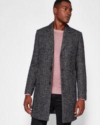Ted Baker - Herringbone Bouclé Wool-blend Coat - Lyst