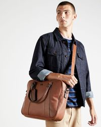Ted Baker Textured Document Bag - Brown