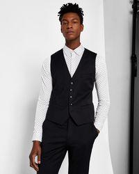 Ted Baker - Slim Plain Wool Waistcoat - Lyst