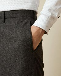 Ted Baker Pantalon En Laine Coupe Slim - Bleu