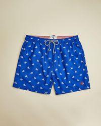 Ted Baker Lobster Print Swim Shorts - Blue