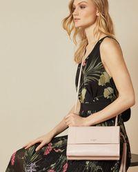 Ted Baker Leather Tassel Detail Cross Body Bag - Pink