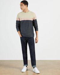 Ted Baker Color Blocked Sweatshirt - Blue