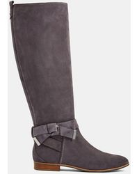 Ted Baker Suede Bow Detail Knee High Boot - Grey