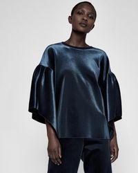Ted Baker - Velvet Full Sleeve Sweatshirt - Lyst