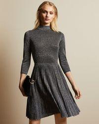 Ted Baker Noaleen High Neck Sparkle Mini Dress - Blue