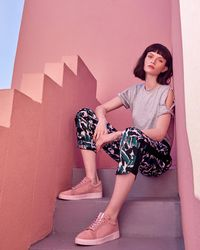 Ted Baker - Crane Print Jogger Trousers - Lyst