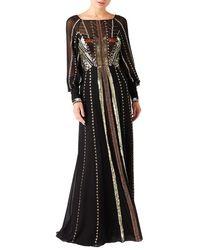 Temperley London Queenie Silk Gown - Black