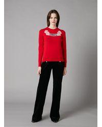 Temperley London Goddess Knit Jumper - Red