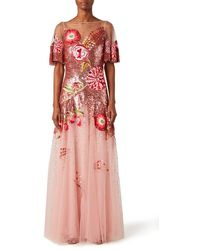 Temperley London Carnation Sequin Gown - Pink