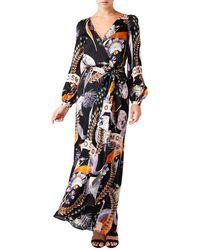 Temperley London Clementina Wrap Dress - Black