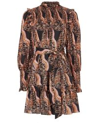 Temperley London Butterfly Print Dress - Black