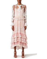 Temperley London Florette Sleeved Dress - Pink