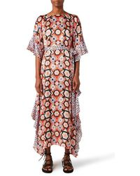Temperley London Crochet Print Kaftan - Multicolour