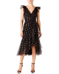 Temperley London Fortuna Fil Coupé Tulle Dress - Black