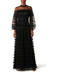 Temperley London Promise Sleeved Gown - Black