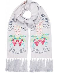Temperley London - Sail Embroidered Dinner Scarf - Lyst