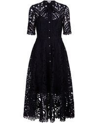 Temperley London Berry Pussy-bow Guipure Lace Midi Dress - Black