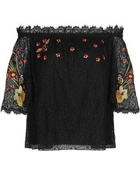 Temperley London - 'leo' Floral Embroidered Guipure Lace Off-shoulder Blouse - Lyst