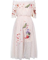Temperley London - Leo Lace Off Shoulder Dress - Lyst