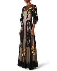 Temperley London Florette Long Dress - Black