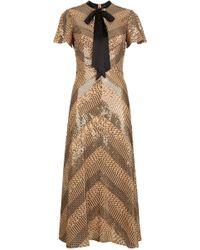 Temperley London Platinum Midi Dress - Natural