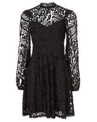 Temperley London Twiggy Lace Dress - Black