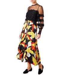 Temperley London Theodora Stretch-silk Midi Skirt - Pink