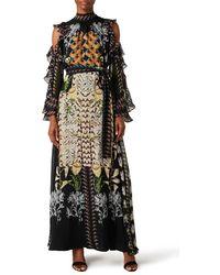 Temperley London Harmony Print Dress - Black