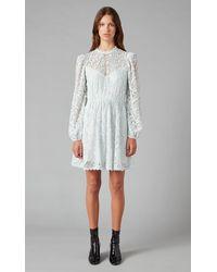 Temperley London Twiggy Lace Dress - Blue