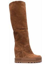 Casadei Boots Beige - Brown