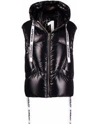 Khrisjoy Puff Shiny Nylon Vest - Black