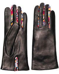 Paul Smith Concertina Swirl Leather Gloves W1a-461e-ag931-79 - Black