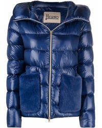 Herno Piumino con cappuccio - Blu