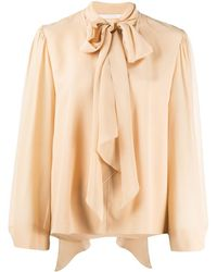 Chloé Pussy Bow Blouse - Natural