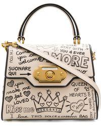 Dolce & Gabbana - Welcome Printed Calfskin Bag - Lyst