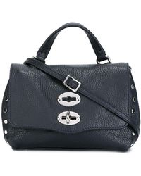Zanellato Daily Baby Postina Leather Bag - Blue
