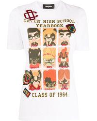 DSquared² T-shirt con stampa - Multicolore