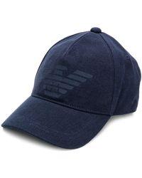 Emporio Armani Logo Baseball Cap Navy Blue