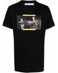 Off-White c/o Virgil Abloh Caravaggio painting ss t-shirt - Nero