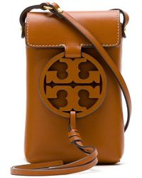 Tory Burch Miller Phone Crossbody Bag - Brown