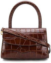 BY FAR Crocodile-embossed Tote Bag - Brown