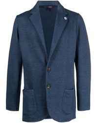 Lardini Single-breasted Jacket - Blue
