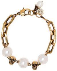 Alexander McQueen Bracciale con perle - Multicolore