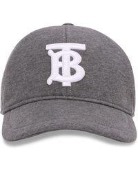 Burberry Cappello da baseball con ricamo - Grigio