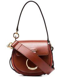Chloé Borsa Tess Piccola Color Sepia Brown - Multicolore