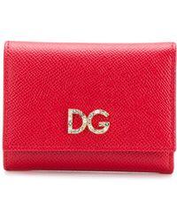 Dolce & Gabbana - Foldover Card Wallet - Lyst